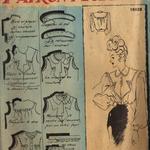 Chemiser femme années 1940-50