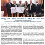 7. März 2018 Eltville Aktiv zur Ehrung zur hessischen Stiftung des Jahres 2017