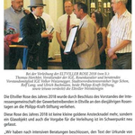 Juni 2018 Eltville Aktiv zur Verleihung der Eltviller Rose