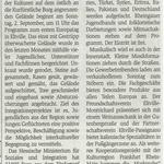 29. August 2018 Wiesbadener Kurier zum Jugendpark der Kulturen