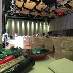 Vorbereitungen in der Simlponhalle