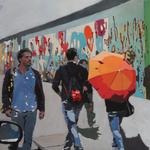 The wall of Berlin 100x100  o