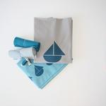 stoffart - jerseypanele ozeanblau - bio-jersey