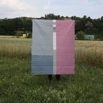 patchworkdecke - jelly roll #1 - rückseite