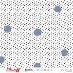lillestoff - waffle dots, rauchblau - bio-jersey