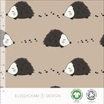 elvelyckan - hedgehog, cappuccino - bio-jersey