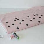 stoffart - dots, bridal rose - bio-baumwolle