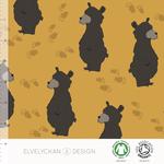 elvelyckan - bear, gold - bio-jersey