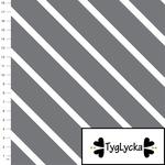 tyglycka - diagonal stripes, grey - bio-jersey