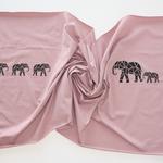 stoffart - elefantenherde panel - bio-jersey