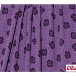 lillestoff - big flowers, purple - bio-jersey