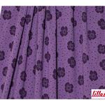 lillestoff - big flowers, purple - bio-jersey