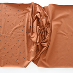 stoffart - minidots, karamell - bio-jersey