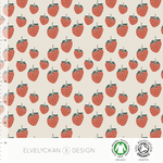 elvelyckan - strawberries, creme - bio-jersey