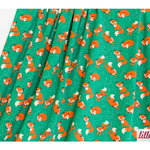 lillestoff - fox, green/orange - bio-jersey