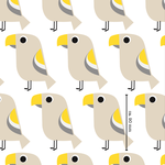 lillestoff - tropenvogel gelb-beige - bio-jersey