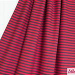 lillestoff - streifen rot/dunkelblau - bio-jersey