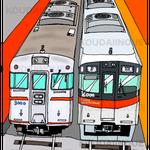 「3000系と6000系」2016年ペン・CG