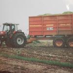 Massey Ferguson Traktor mit Schuitemaker Anhänger