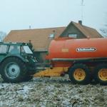Deutz Traktor mit Güllefass