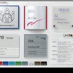 Schildersysteme UNITEX-F, C, K, B, BX, L - Türschilder, Wegweiser