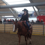 Chantale Wellauer mit dem Pferd von Andrea Gerber.