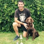 Thomas und Samba mit ihren Pokalen nach 2 Siegen im A2