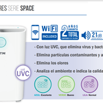Catalogo purificador Hepa serie Space