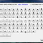 Benötigen Sie Sonderzeichen für Ihre Fremdsprache, die Sie auf Ihrer Tastatur nicht finden können? Domingo verfügt über eine Zeichentabelle - klicken Sie einfach auf das Zeichen, dass Sie benötigen!