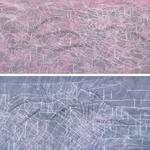 campo energético VI (díptico), 2012 · mixta / tela · 140 x 150 cm
