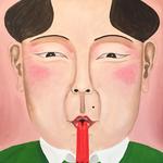 Il bacio del cigno, olio su tela, 40x30 cm