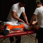 Unterschüler der Physiotherapieschule Dortmund boten im ziel Massagen gegen eine Spende für einen guten Zweck an, ein angenehmer Service!