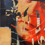 035 B Giusto Carlo, (coll. Sintesi) anno opera 1963, Italia, tela olio e collage, fto 50x60, concettuale, collezione privata, grande archivio