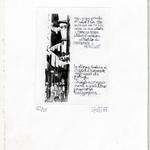 Titolo opera: s.t. Codice: 030B Pietro Gatti,1985, Italia, carta, incisione 1985 a tiratura di 20 copie riservate agli amici 12/20, 17,2x25,5 cm. Stile: informale, concettuale realizzato per l'Inaugurazione Atelier 1985 allestito da Pietro gatti e Enrico