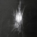 """056 C Prestento Giustina, """"Marta"""" (Intrecci), 1991 Italia cartoncino nero Litografia 78/100 realizzata sulla musica di Vittorio Gelmetti 34x40 cm."""