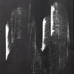 056 A Prestento Giustina, Marta (Intrecci) , 1991 Italia cartoncino nero Litografia 22/100 realizzata sulla musica di Vittorio Gelmetti 34x40 cm.