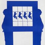 092 C, Amato Oreste, Ominidi (cover album), 1971, carta CM Fabriano 100/100 cotone 300 gr., litografia 30/50, 50x70, magazzino temp. costante in scatola di legno D