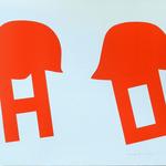 092 D, Amato Oreste, Ominidi (cover album), 1971, carta CM Fabriano 100/100 cotone 300 gr., litografia 30/50, 50x70, magazzino temp. costante in scatola di legno D