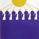 092 B, Amato Oreste, Ominidi (cover album), 1971, carta CM Fabriano 100/100 cotone 300 gr., litografia 30/50, 50x70, magazzino temp. costante in scatola di legno D