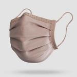 antimikrobielle Gesichtsmaske waschbar Stoff Beige
