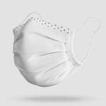 antimikrobielle Gesichtsmaske waschbar Stoff Weiss
