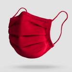 antimikrobielle Gesichtsmaske waschbar Stoff Rot