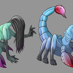 Horror Scorpio: Eins der vielen Konzepte zu meinen Zodiak-Horror-Kreaturen