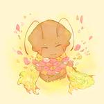 小さいザイクさんお借りしました……!無性にお花を差し上げたくなってしまい…ザイクさん好きです…!!
