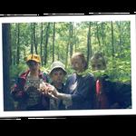 """команда гимназии - участник регионального конкурса """"Юный эколог"""" в г.Хабаровск, 2003"""
