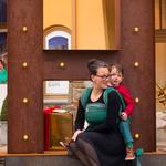 MADALO Hoja Negra - baby wrap - Handgewebtes Babytragetuch