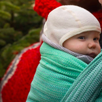 MADALO Hoja Verde - baby wrap - Handgewebtes Babytragetuch