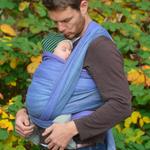 MADALO Cacahuamilpa Lila - baby wrap - Handgewebtes Babytragetuch
