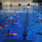 Schwimmen auf der 50m Bahn im Langwasserbad