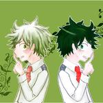 緑谷出久 線画=きな子 色=mosimo(左)